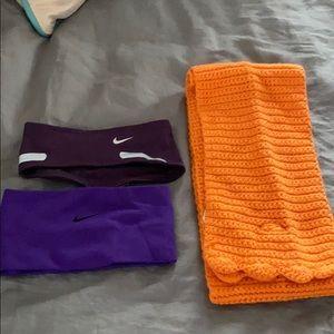 Nike headbands and Nike scarf